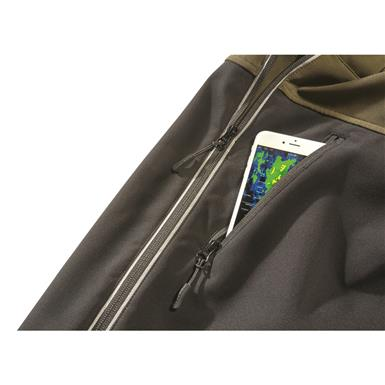 Zippered chest pocket, Black/olive