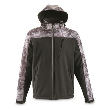 Guide Gear Men's Softshell Jacket, Black/print