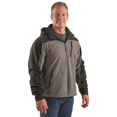Guide Gear Men's Softshell Jacket, Gray/Black