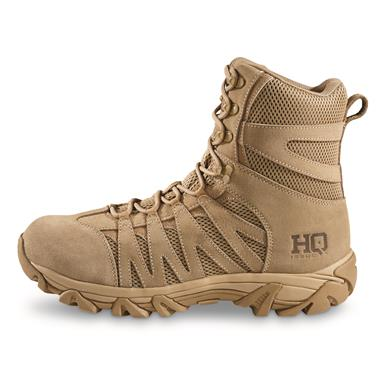 "HQ ISSUE Men's Canyon 8"" Waterproof Tactical Hiking Boots, Coyote"