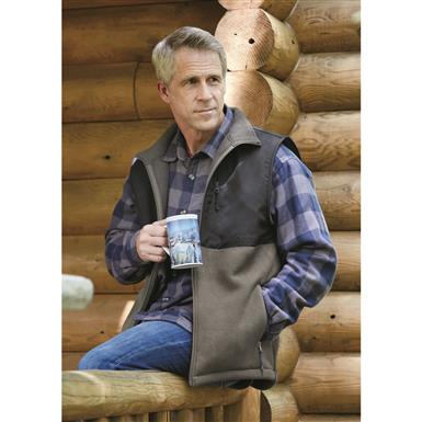 Guide Gear Men's Burly Fleece Vest, Graphite Gray