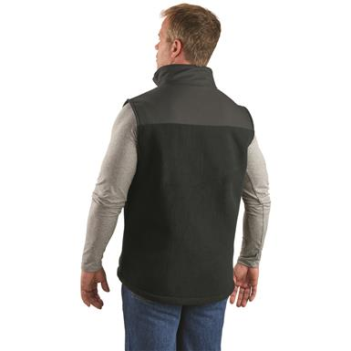 Guide Gear Men's Burly Fleece Vest, Black