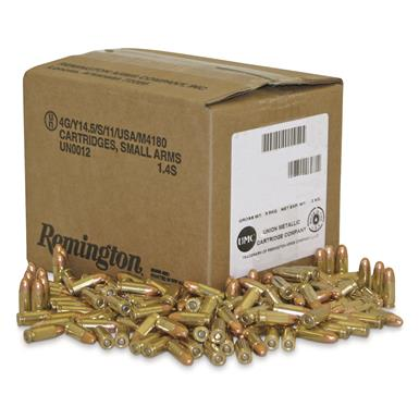 remington military law enforcement training ammunition 9mm fmj