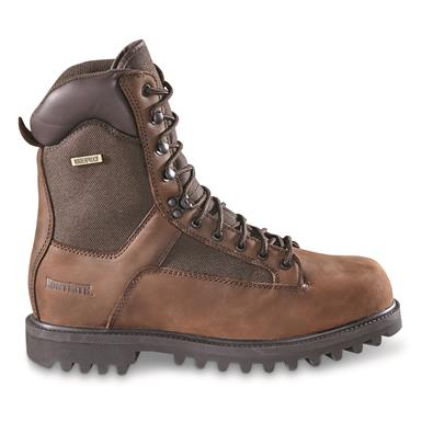 HuntRite Men's Insulated Waterproof Sport Boots, 400 Gram, Brown