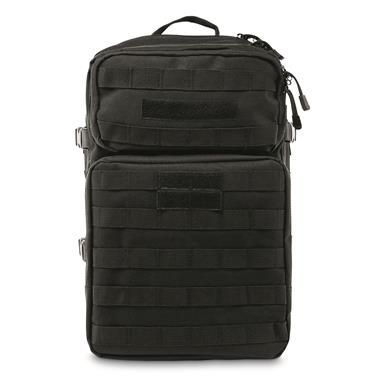 Top and bottom exterior compartments with zippers, Black