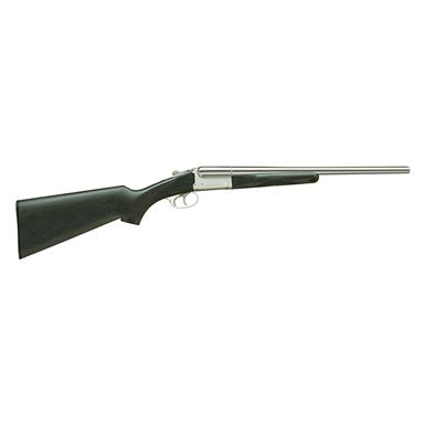 "Stoeger Coach Gun, Side-By-Side, 12 Gauge, 20"" Barrels, Double Triggers, Black Hardwood, 2 Rounds"