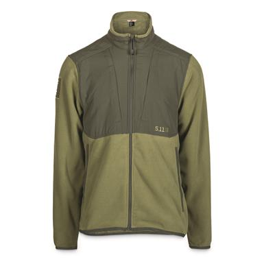 5.11 Tactical Apollo Tech Full Zip Fleece Jacket, Fatigue