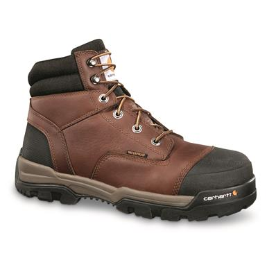 "Carhartt Men's Ground Force Waterproof 6"" Composite Toe Work Boots, Brown"