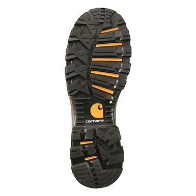 Rubber outsole provides traction, is flexible, Brown