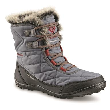 Columbia Women's Minx Shorty III Waterproof Winter Boots, 200 Gram, Graphite/deep Rust