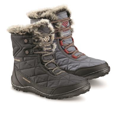 Columbia Women's Minx Shorty III Waterproof Winter Boots, 200 Gram, Black Pebble, (CEE