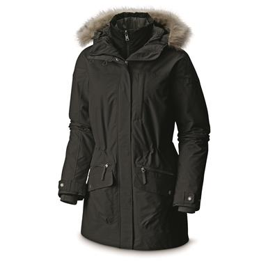 Columbia Women's Carson Pass Waterproof Insulated Interchange Jacket, Black