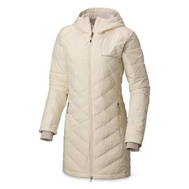 Columbia Women's Heavenly™ Long Hooded Jacket, Light Bisque