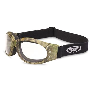 Global Vision Eliminator Forest Camo Goggles, Clear