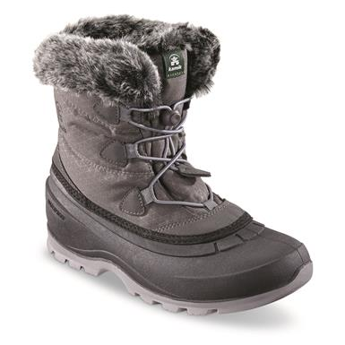 Kamik Women's MomentumLo Insulated Waterproof Boots, 200 Gram, Charcoal
