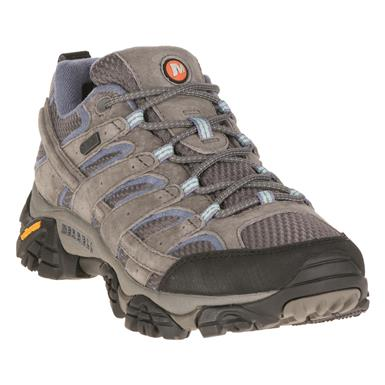 Merrell Women's Moab 2 Waterproof Hiking Shoes, Granite