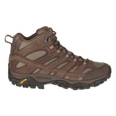 Merrell Men's Moab 2 Smooth Waterproof Mid Hiking Boots, Bracken
