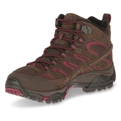 Merrell Women's Moab 2 Waterproof Mid Hiking Boots, Espresso