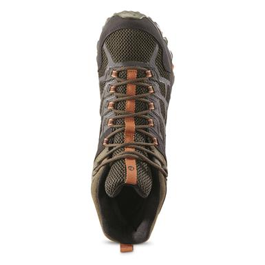 Merrell Men's Moab FST 2 Mid Waterproof Hiking Boots, Olive
