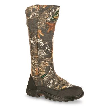 "Rocky Men's ProLight 16"" Waterproof Snakeproof Boot, Side Zip, Mossy Oak Break-Up®"