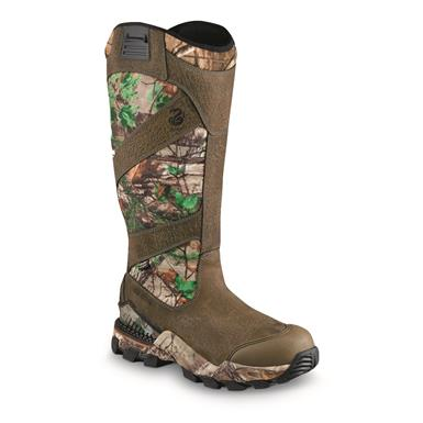 "Irish Setter Men's Deer Tracker 17"" Waterproof Snake Boots, Brown/Realtree Xtra Green, Brown/Realtree Xtra® Green"