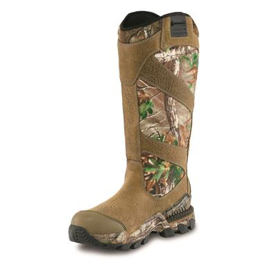 Trout Brook full-grain leather uppers are crafted exclusively for Irish Setter in the USA, Brown/Realtree Xtra® Green