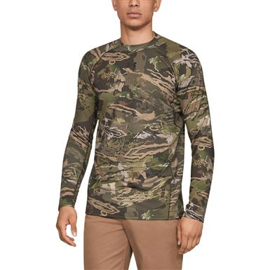 Under Armour Men's Reactor Base Layer Crew Shirt, Ridge Reaper¿¿ Forest