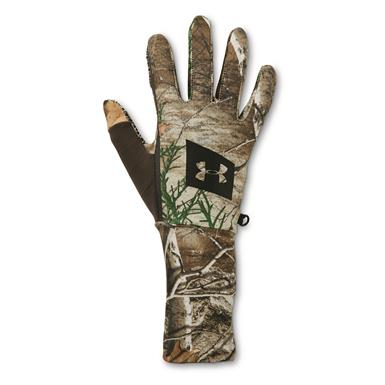 Under Armour Men's Hunt Liner Gloves, Black/Realtree EDGE™
