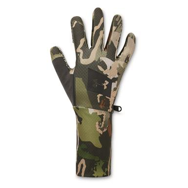 Under Armour Men's Hunt Liner Gloves, Black/Ridge Reaper® Forest