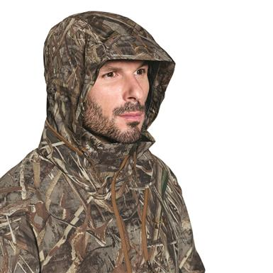 2-layer stretch hood stows inside collar, Realtree MAX-5®