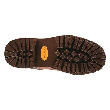 Oil-resistant rubber lugged outsole, Brown