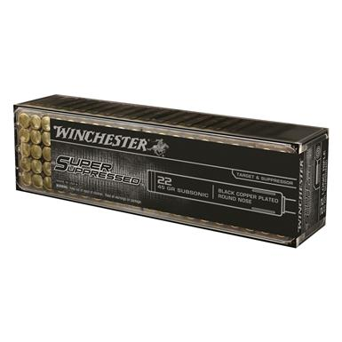 Winchester, Super Suppressed, .22 Win. Mag, LHP, 45 Grain, 50 Rounds
