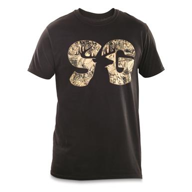 Sportsman's Guide T-Shirt, Camo Logo, Black