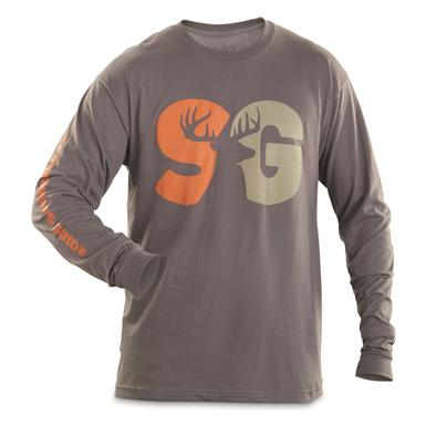 Sportsman's Guide T-Shirt, Long Sleeve, Duo Color Logo, Charcoal
