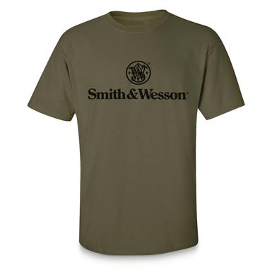 Smith & Wesson Men's Logo Shirt, Military Green
