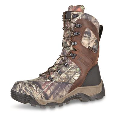 Full-grain leather and 900-denier nylon uppers are rugged yet lightweight, Mossy Oak Break-Up® COUNTRY™