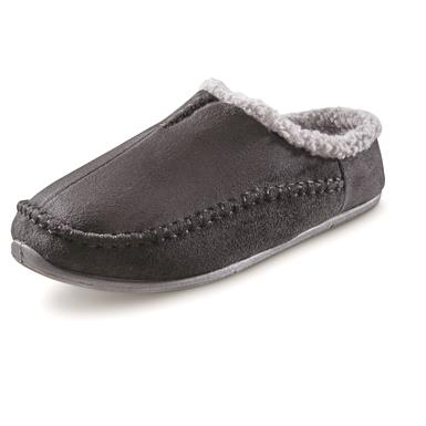 Guide Gear Men's Microsuede Clog Slippers, Black