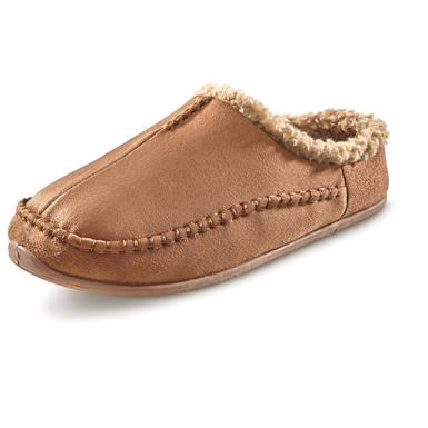 Guide Gear Men's Microsuede Clog Slippers, Chestnut