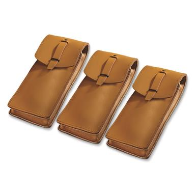 French Military Surplus MAT 49 Magazine Pouches, 3 Pack, Used