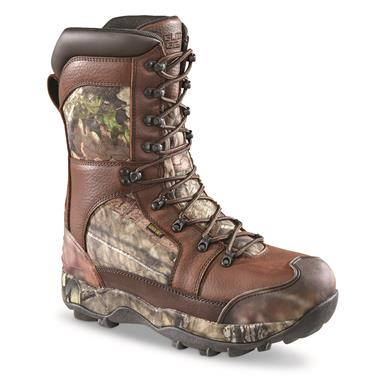 Guide Gear Monolithic Extreme Waterproof Insulated Hunting Boots, 2,400 Gram Thinsulate Ultra, Mossy Oak Break-Up® COUNTRY™