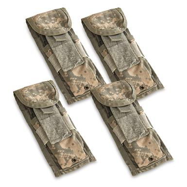 U.S. Military Surplus M4 Mag Pouches, 4 Pack, Used