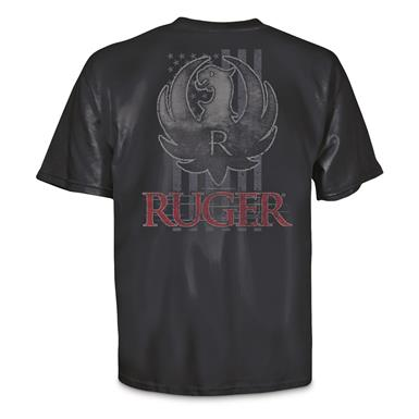 Ruger Men's Stars and Stripes Logo Tee Shirt, Navy