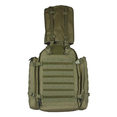 MOLLE-compatible attachment points on front and sides, Olive Drab