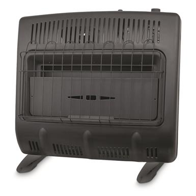 Mr. Heater 30,000-BTU Vent-free Blue Flame Propane Heater, Black