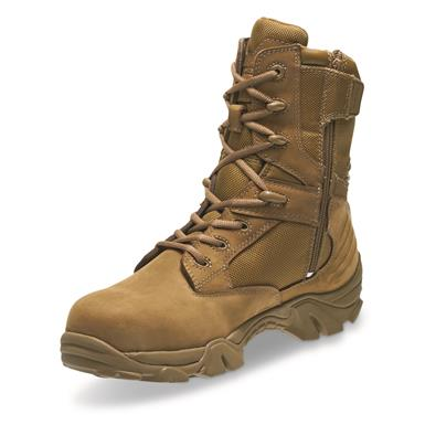 Bates Men's GX-8 Waterproof Composite Toe Side-Zip Combat Boots, Coyote