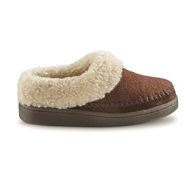 Guide Gear Women's Wool Clog Slippers, Chocolate