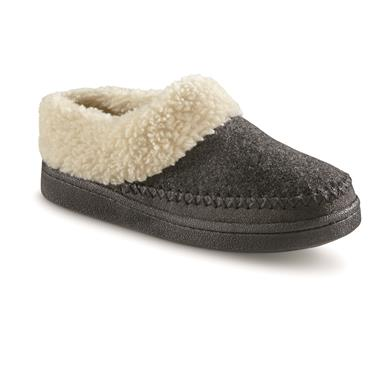Guide Gear Women's Wool Clog Slippers, Charcoal