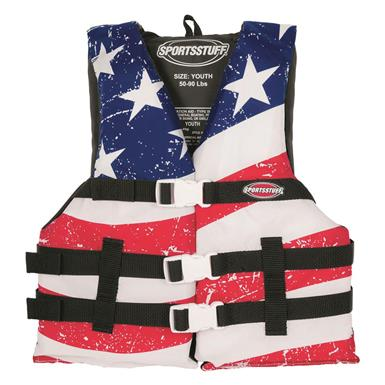 Sportstuff Stars & Stripes Life Jacket, Oversized PFD
