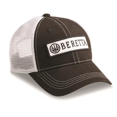 Beretta Men's Patch Trucker Hat, Black/White
