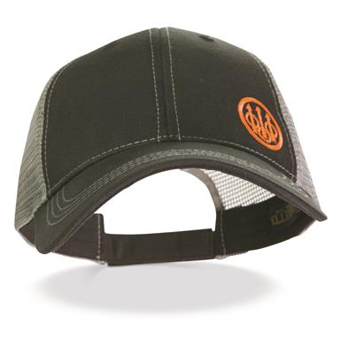 Beretta® Trident Trucker Hat, Black/gray
